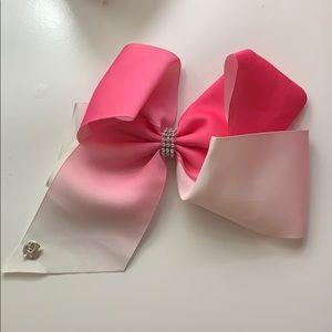 Pink and white Jojo Siwa bow